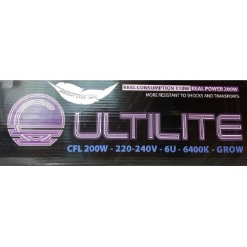 CFL Grow 200 w Cultilite Black Series (consumo reale 95 w)