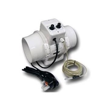 Vents Aspiratore TTUN DIAM. 250 Cablato + Termostato + Controllo Velocità 1400 MC/H