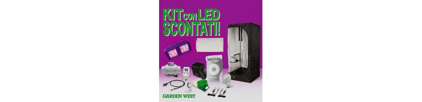 kit con Lampada Led - Grow Box Completi Milano Garden West GrowShop