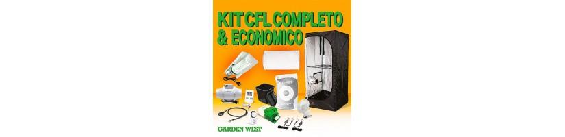 Kit Indoor 80x80x160 con Lampada CFL - Grow Box Completa Garden West