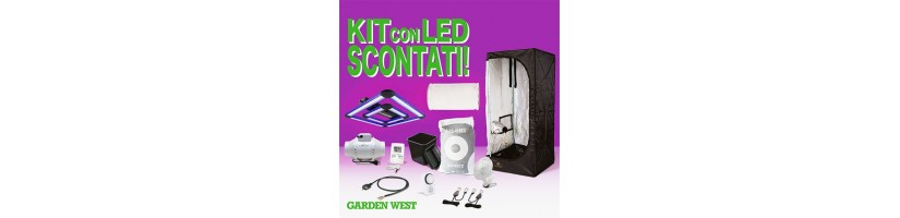 Kit Grow Box 90x90x160 LED- Kit Coltivazione Indoor Garden West Milano