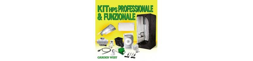 Kit Grow Box 120x120x200 con Lampada HPS Garden West GrowShop Milano